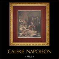 French painting - Death of Elizabeth I of England (Paul Delaroche)