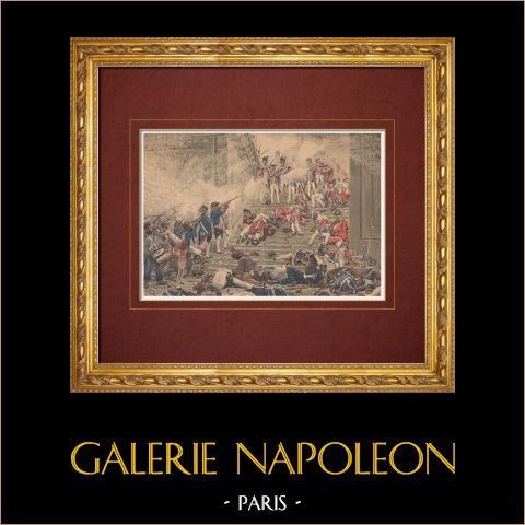 Frans Schilderij - Bestorming van de Tuilerieën (Henri Motte) |