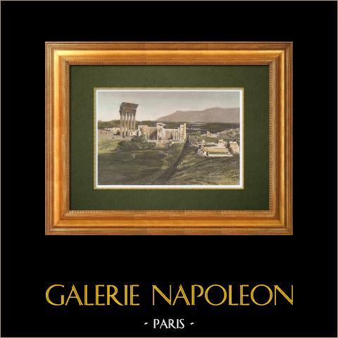 Gezicht op Baalbek Ruïnes (Libanon) |