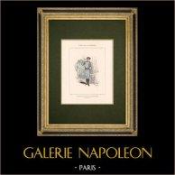 Commune de Paris - Directeur des Télégraphes   Gravure sur bois originale dessinée par Bertall. Coloriée au pochoir. 1880