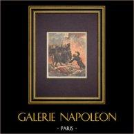 Explosión en Paris - Muerte del bombero Bauchat - 1894