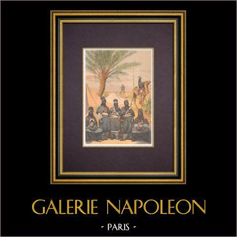 Afrika - Traditionele Klederdracht - Tuareg Mensen in Parijs - 1894 |