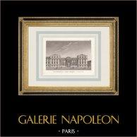 Palais Bourbon - Assemblée Nationale - Paris (France)   Gravure originale en manière noire. Anonyme. 1808