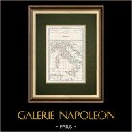 Gammalt Kartlägga över Italien (M. Bonne)