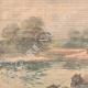 DÉTAILS 01 | Exercice militaire - La Cavalerie traverse la rivière - XIXème Siècle