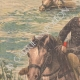 DÉTAILS 02 | Exercice militaire - La Cavalerie traverse la rivière - XIXème Siècle