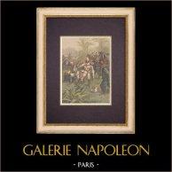 French Colonization - Boucle du Niger - Death of the Lieutenant Grivart (1899)
