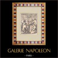 Florence - Discord of the Sainte-Trinité - Andrea del Sarto (Italy) | Original wood engraving after Andrea del Sarto. 1881
