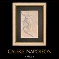 Plano de las ruinas - Palacio de Nabucodonosor II - Jardines de Babilonia