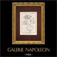 Encyclopédie Méthodique - Planche 5 - Gnomonique - Cadran solaire