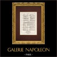 Encyclopédie Méthodique - Planche 1 - Musique - Notation musicale - Abréviations