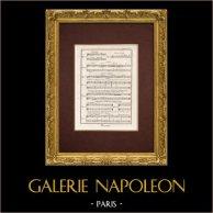 Encyclopédie Méthodique - Plate 6 - Music - Musical notation - Cesure