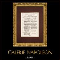 Encyclopédie Méthodique - Plate 9 - Music - Musical notation - Counterpoint