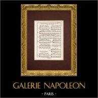 Encyclopédie Méthodique - Lámina 10 - Música - Notación musical - Contrapunto