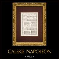 Encyclopédie Méthodique - Lámina 13 - Música - Notación musical