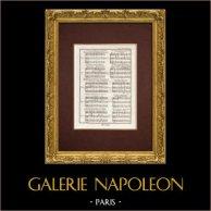 Encyclopédie Méthodique - Lámina 14 - Música - Notación musical