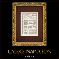 Encyclopédie Méthodique - Lámina 15 - Música - Notación musical