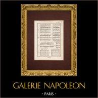 Encyclopédie Méthodique - Plate 16 - Music - Musical notation