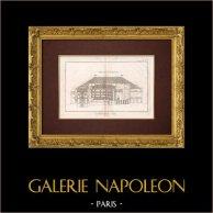 Encyclopédie Méthodique - Płyta 7 - Architektura - Comédie-française - Przekrój Podłużny