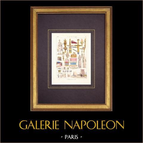 Sztuka Francuska - VIII Wiek - Antyki - Meble (Karol Wielki) |