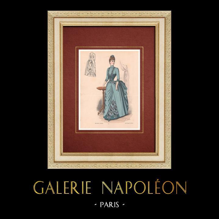 Gravures Anciennes & Dessins   Gravure de Mode - Paris - La Couturière - 1888 - Modèle 259   Lithographie   1888