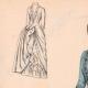 DÉTAILS 01   Gravure de Mode - Paris - La Couturière - 1888 - Modèle 259