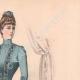 DÉTAILS 03   Gravure de Mode - Paris - La Couturière - 1888 - Modèle 259