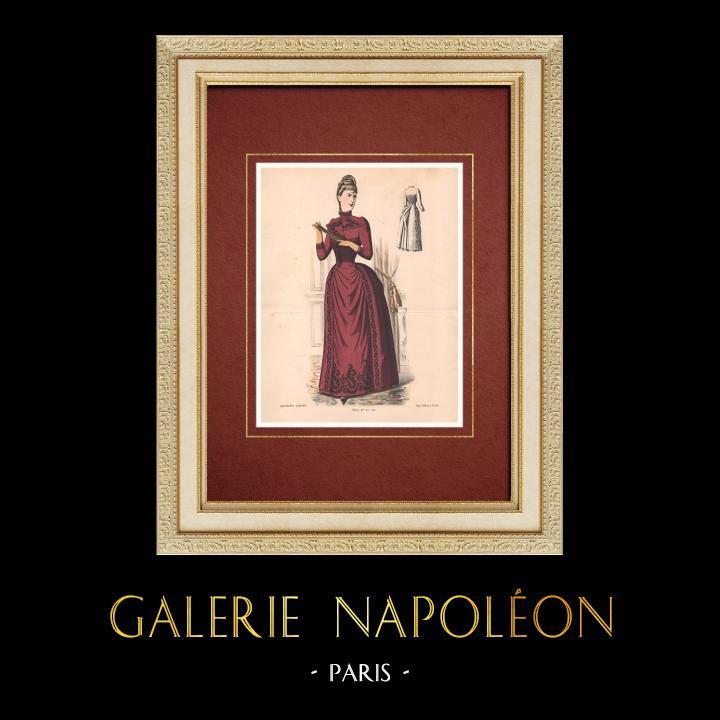 Gravures Anciennes & Dessins   Gravure de Mode - Paris - La Couturière - 1888 - Modèle 362   Lithographie   1888