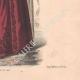 DÉTAILS 06 | Gravure de Mode - Paris - La Couturière - 1888 - Modèle 19