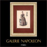Modedrucke - Paris - La Couturière - 1888 - Modèle 363