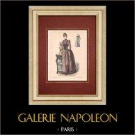 Modedrucke - Paris - La Couturière - 1888 - Modèle 363-19