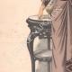 DÉTAILS 02   Gravure de Mode - Paris - La Couturière - 1888 - Modèle 363-19