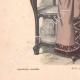 DÉTAILS 05   Gravure de Mode - Paris - La Couturière - 1888 - Modèle 363-19