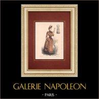 Fashion Plate - Paris - La Couturière - 1888 - Modèle 353