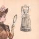 DÉTAILS 03   Gravure de Mode - Paris - La Couturière - 1888 - Modèle 353