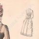 DÉTAILS 03   Gravure de Mode - Paris - La Couturière - 1888 - Modèle 296