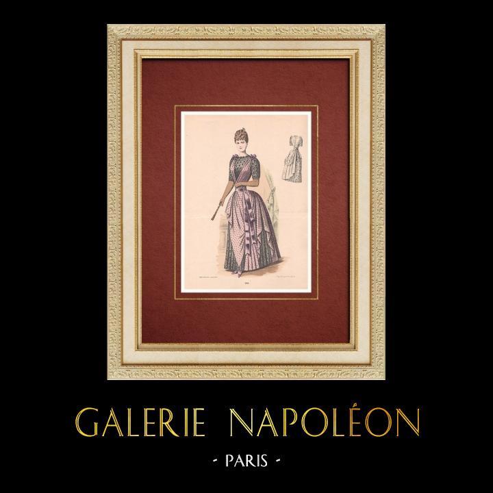 Gravures Anciennes & Dessins | Gravure de Mode - Paris - La Couturière - 1888 - Modèle 289 | Lithographie | 1888