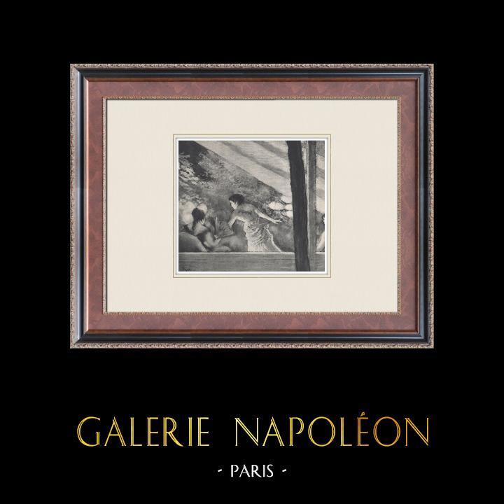 Gravures Anciennes & Dessins | Ballet - Danseuses - Le Café-Concert (Edgas Degas) | Héliogravure | 1933