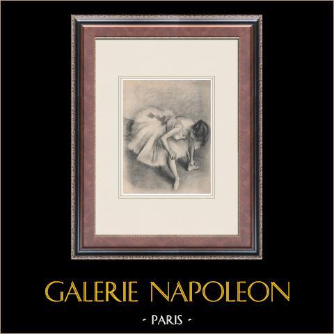 Ballet - Bailarinas - Danseuse (Edgas Degas) | Heliograbado original según Edgar Degas. 1933