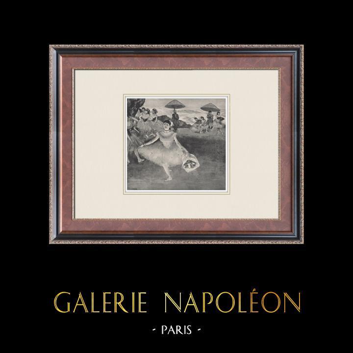 Gravures Anciennes & Dessins | Ballet - Danseuses - Danseuse Saluant (Edgas Degas) | Héliogravure | 1933