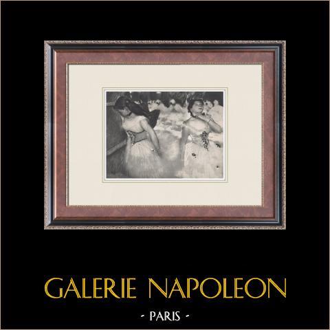 Ballet - Bailarinas - L'Entrée des Masques (Edgas Degas) | Heliograbado original según Edgar Degas. 1933