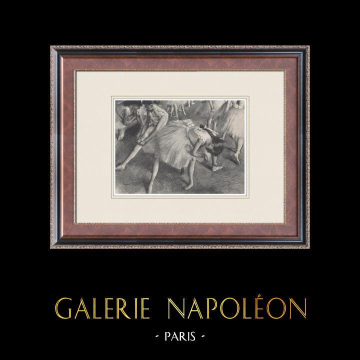Gravures Anciennes & Dessins | Ballet - Danseuses - Danseuses (Edgas Degas) | Héliogravure | 1933