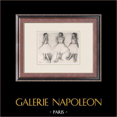 Ballet - Bailarinas - Trois Danseuses (Edgas Degas) | Heliograbado original según Edgar Degas. 1933