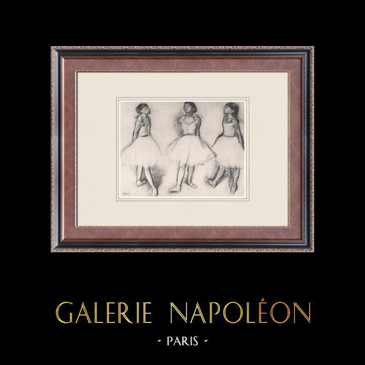 Gravures Anciennes & Dessins | Ballet - Danseuses - Trois Danseuses (Edgas Degas) | Héliogravure | 1933