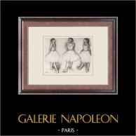 Balletto - Danzatrici - Ballerina - Trois Danseuses (Edgas Degas)