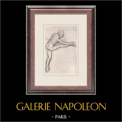 Ballet - Bailarinas - Danseuse à la Barre (Edgas Degas) | Heliograbado original según Edgar Degas. 1933