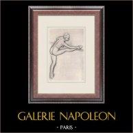 Ballet - Danseuses - Danseuse à la Barre (Edgas Degas)