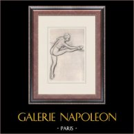 Ballett-Tänzerinnen - Danseuse à la Barre (Edgas Degas)