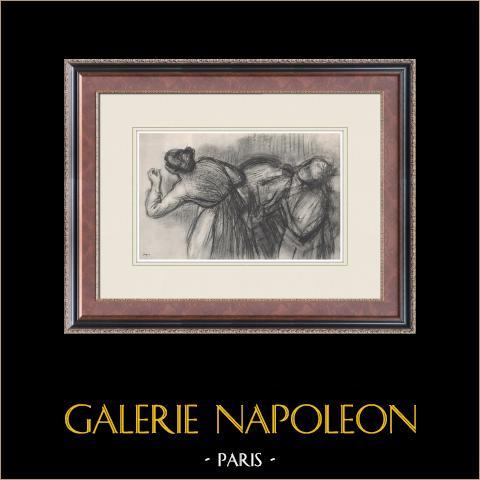 Ballet - Bailarinas - Blanchisseuses (Edgas Degas) | Heliograbado original según Edgar Degas. 1933