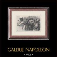Balet Tancerze - Blanchisseuses (Edgas Degas)